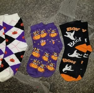 1 women's & 2 children's Halloween Socks
